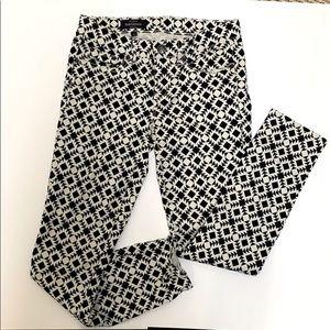 J Crew women's geometric print Toothpick Jeans